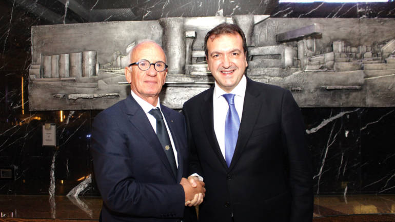 Cenacolo con Umberto Masucci Presidente dell'International Propellers Club d'Italia