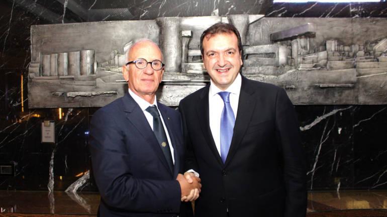 Cenacolo con Umberto Masucci Presidente dell'International Propellers Club d'Italia